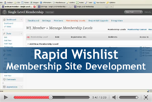 Rapid Wishlist Membership Site Development