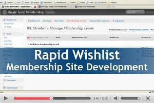 Rapid Wishlist Membership Site Development